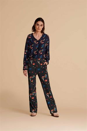 Pom blouse sp6675 in het Blauw