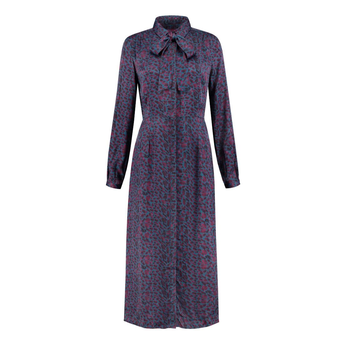 Smit Mode: Pom jurk sp5979 in het Blauw