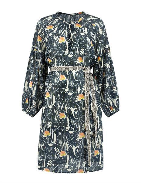 Pom jurk sp6495 in het Donker Blauw