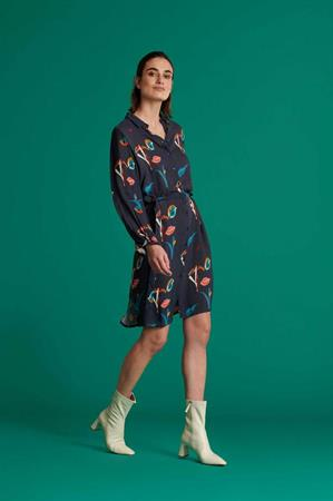 Pom jurk sp6685 in het Blauw