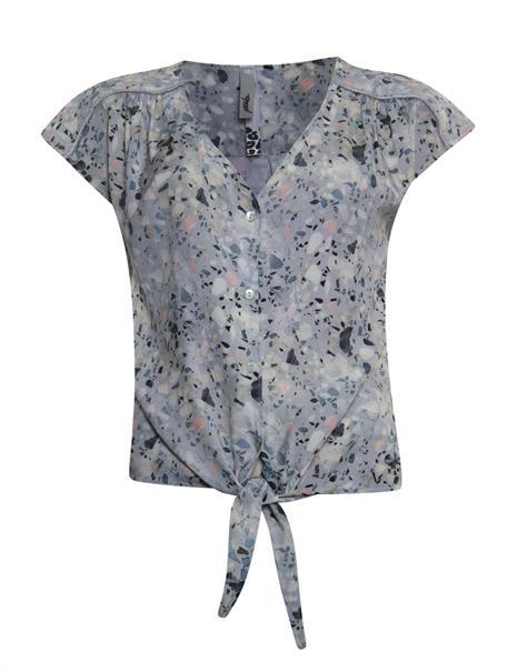 Poools blouse 113224 in het Grijs