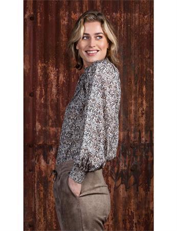 Poools blouse 133110 in het Licht Grijs