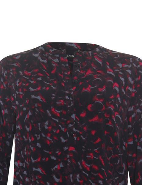 Poools blouse 133249 in het Rood