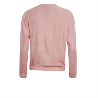 Poools gebreid vest 113255 in het Roze