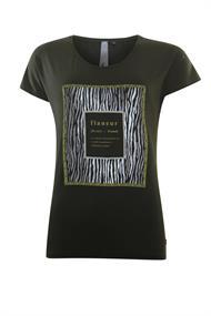 Poools t-shirts 033191 in het Olijf groen