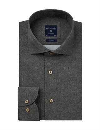 Profuomo business overhemd PPSH3A1049 in het Groen