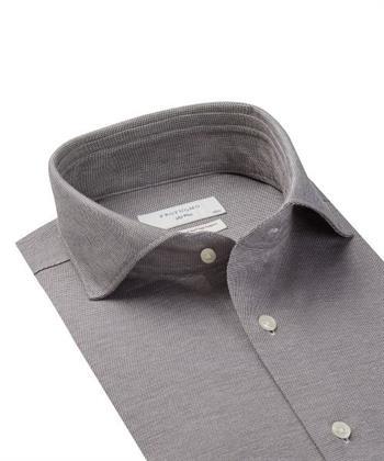 Profuomo business overhemd PPSH3C1058 in het Bruin