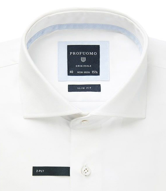Profuomo business overhemd Slim Fit PP0H0A027 in het Wit