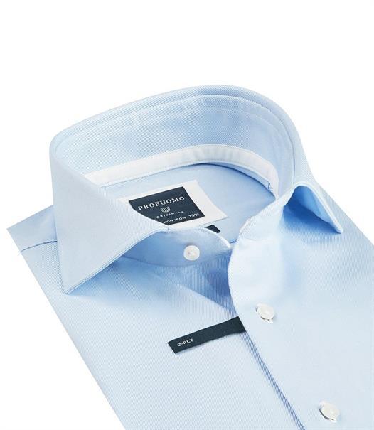 Profuomo business overhemd Slim Fit PP0H0A028 in het Licht Blauw