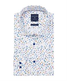 Profuomo business overhemd Slim Fit PPRH1A1098 in het Multicolor