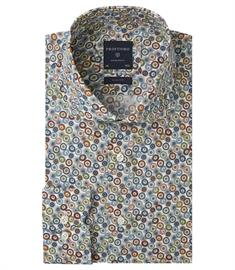 Profuomo business overhemd Slim Fit PPRH3A1011 in het Multicolor