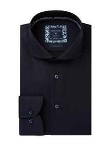 Profuomo business overhemd Slim Fit PPRH3A1055 in het Marine
