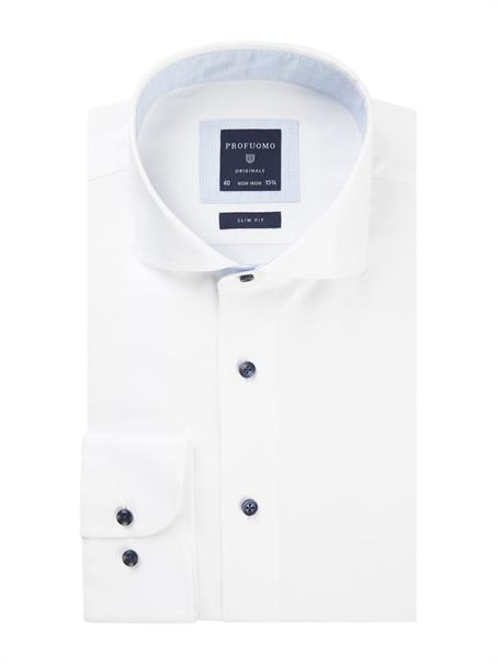 Profuomo business overhemd Slim Fit PPRH3A1064 in het Wit