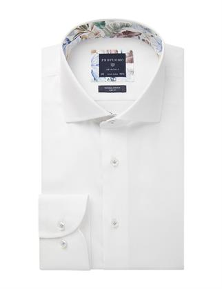 Profuomo business overhemd Slim Fit PPSH1A1003 in het Wit