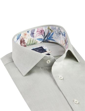 Profuomo business overhemd Slim Fit PPSH1A1006 in het Groen