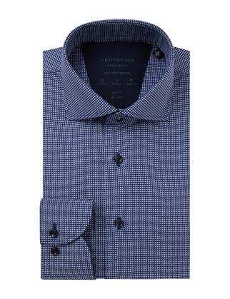 Profuomo business overhemd Slim Fit PPSH1A1051 in het Marine