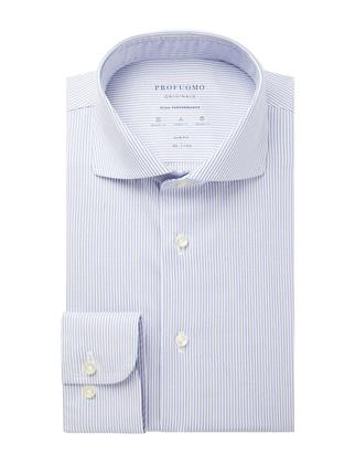 Profuomo business overhemd Slim Fit PPSH1A1054 in het Blauw