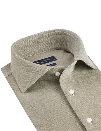 Profuomo business overhemd Slim Fit PPSH1A1062 in het Groen