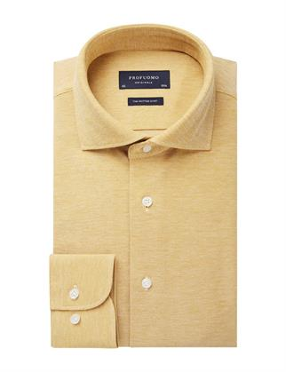 Profuomo business overhemd Slim Fit PPSH1A1063 in het Geel