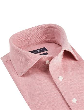 Profuomo business overhemd Slim Fit PPSH1A1064 in het Rood