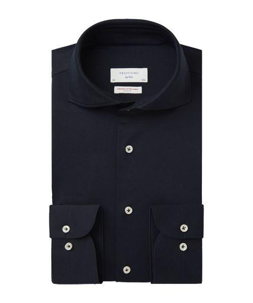 Profuomo jersey overhemd PP2HC10010 in het Marine