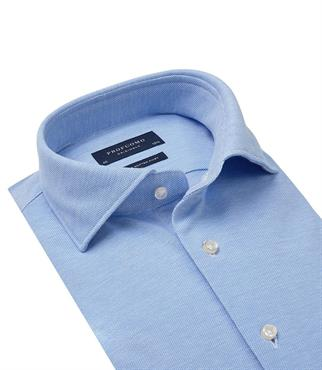 Profuomo jersey overhemd Slim Fit PP0H0A047 in het Blauw