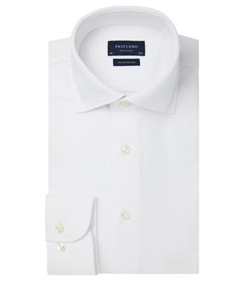 Profuomo jersey overhemd Slim Fit PP0H0A049 in het Wit