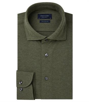 Profuomo jersey overhemd Slim Fit PP0H0A051 in het Groen