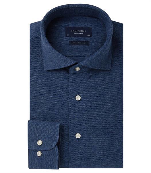 Profuomo overhemd Slim Fit PP0H0A045 in het Marine