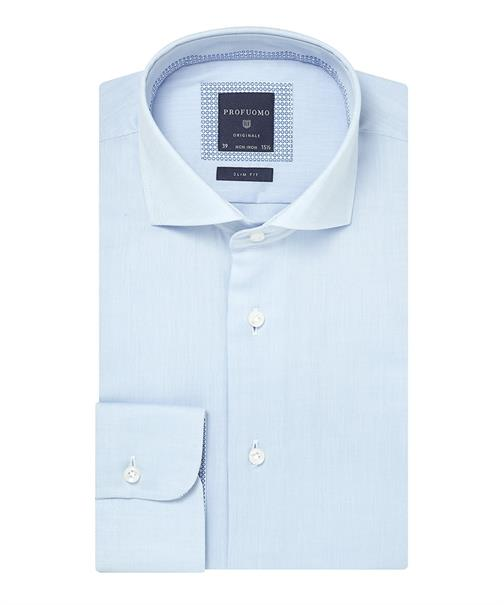 Profuomo overhemd Slim Fit ppph2a0004 in het Wit