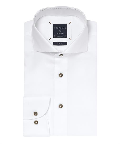 Profuomo overhemd Slim Fit ppph3a1001 in het Wit