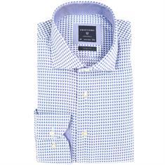 Profuomo overhemd Slim Fit ppph3a1010 in het Kobalt