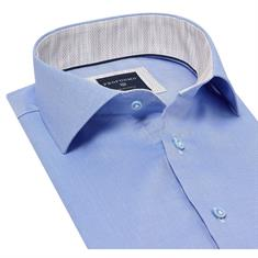 Profuomo overhemd Slim Fit ppqh1a1007 in het Blauw