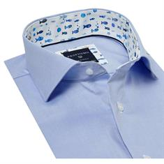 Profuomo overhemd Slim Fit ppqh1a1130 in het Blauw