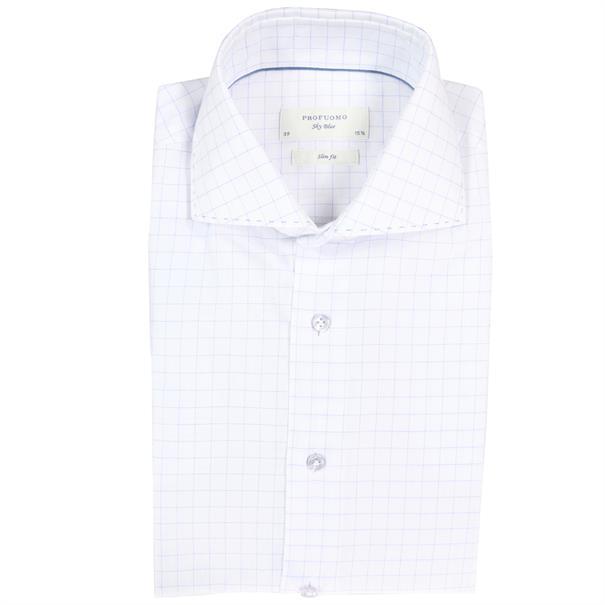 Profuomo overhemd Slim Fit ppqh1c1019 in het Blauw