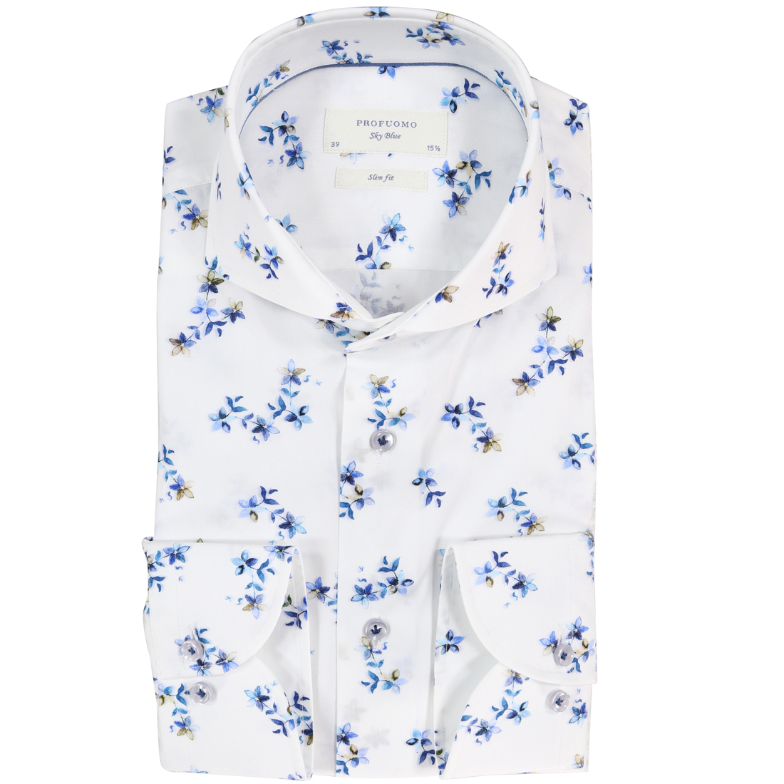 Profuomo Overhemd.Profuomo Overhemd Slim Fit Ppqh1c1039 In Het Aqua