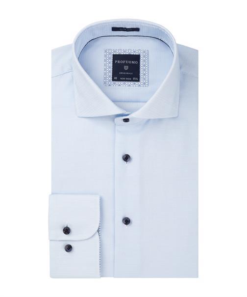 Profuomo overhemd Slim Fit PPQH2A002 in het Blauw