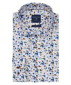 Profuomo overhemd Slim Fit ppqh3a1049 in het Bruin