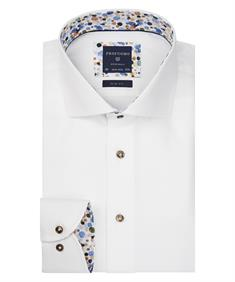 Profuomo overhemd Slim Fit ppqh3a1096 in het Wit