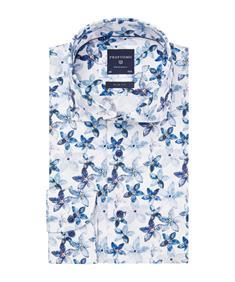 Profuomo overhemd Slim Fit PPRH1A1094 in het Marine