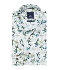 Profuomo overhemd Slim Fit PPRH1A1095 in het Groen