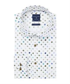 Profuomo overhemd Slim Fit PPRH1A1096 in het Groen