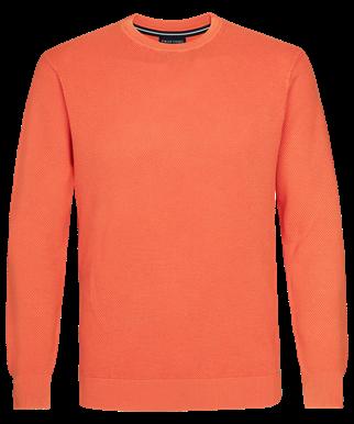 Profuomo ronde hals trui PPSJ1A0051 in het Oranje