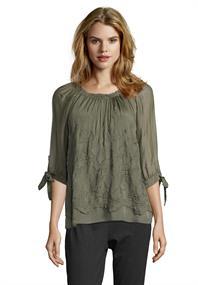 public blouse 8076-8368 in het Groen