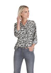 public blouse 8107-8380 in het Wit/Zwart
