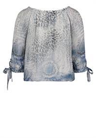 public blouse 8110-8361 in het Wit/Blauw