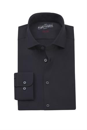 Pure business overhemd Slim Fit 3387-21150 in het Zwart