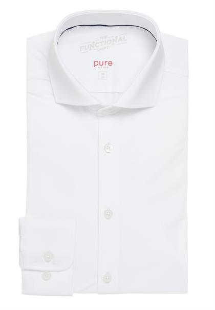 Pure business overhemd Slim Fit 4030-21750 in het Wit