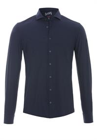 Pure jersey overhemd Slim Fit 3386-21150 in het Marine