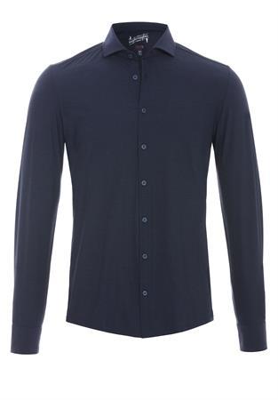 Pure jersey overhemd Slim Fit 3386-21150 in het Marine